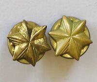 Twin Stars Girl Scout Brownie Membership Service Pin Badge Rare Vintage (N6)
