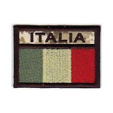 [Patch] BANDIERA ITALIA softair bassa visibilità cm6,5x4,5 ricamo ITALY -445