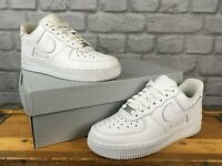NIKE LADIES AIR FORCE 1 LOW BASKETBALL WHITE LEATHER TRAINERS VARIOUS SIZES £80