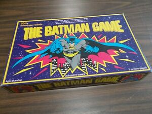 THE BATMAN GAME - 50TH ANNIVERSARY EDITION / 1989 UNIVERSITY GAMES / COMPLETE