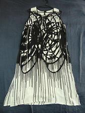 TS Taking Shape 16 NWT Black White Sleeveless Dress Ink Design