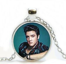 Young Elvis Presley Rock n Roll The King Pendant necklace