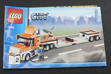 Lego City 7686 Helicopter Transporter Manual Build Instructions Only USED L1158E