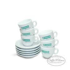 Rancilio Espresso Tassen mit Unterteller, 6 Stück - Caffe Milano