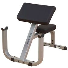 "Body-Solid GPCB329 2"" by 3"" Preacher Curl Bench, Body Solid Heavy Duty"