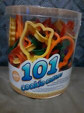 Wilton Plastic Cookie Cutters 101 Assorted Shapes, Numbers & Letters