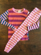 Hanna Andersson Girls Stripes Long Pajamas - Size 140  (10)