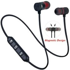 5.0 Bluetooth Earphone Sports Neckband Magnetic Wireless Stereo Earbuds Mic