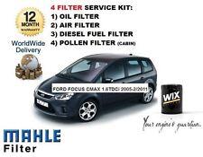 Per FORD FOCUS C MAX 1.6 TDCi 2005-2011 Servizio Kit Olio Aria Carburante Polline Filtro