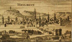 Antique copper engraving 'Heylbron' Nicolas Tassin c1600's