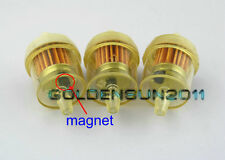 "3pcs x HARLEY Motorcycle Inline GAS Carburetor Fuel Filter 1/4"" 6-7mm MOTOR Z10"