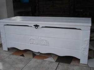 Wooden Blanket Box Coffee Table Trunk Vintage Chest Wooden Ottoman Toy Box (BT3)