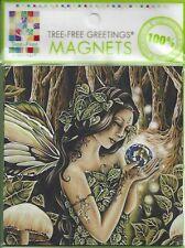 Green Woman Premium Fairy Magnet faery faerie Jessica Galbreth woodland mystical