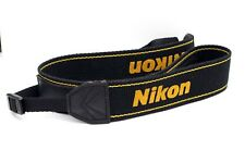 188812 NIKON GENUINE CAMERA NECK STRAP BLACK & YELLOW USED