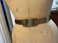 Vintage Gold Metal Snake Belt