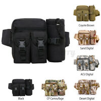 Waist Bag Tactical Pack Military Molle Pouch Belt Pocket Camping Hiking Trave