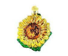 Satin glass gardening gardener sunflower Christmas ornament NEW