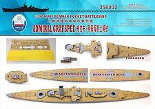 Shipyard 1/350 350032 Wood Deck German Admiral Graf Spee for Trumpeter