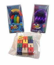 3 Tangle Jr Toysmith Fidget Toy ADHD Autism Fuzzy Metallic SPED Aspergers