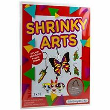 Kids Shrink Plastic Activity Kit w/ Key Chains & Traceable Pictures (20 Pack)