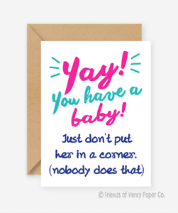 Funny card / Baby card / Friends of Henry / Handmade card / Recycled