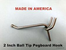 "(250 PACK) 2 Inch All Metal Peg Hooks 1/8 to 1/4"" Pegboard, Slatwall, Garage kit"