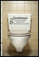 Bathroom Wall Quote Sticker Novelty Decal Mural Tattoo Decoration jokes