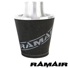 RAMAIR Silber M Aluminium Induktionsluftfilter Universal 80Mm MM Hals