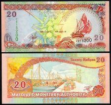 MALDIVES 20 RUFIYAA 2000/AH 1421 P20 UNCIRCULATED