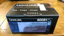 NEW!! Lexmark 80C0S10 800S1 Black Standard Yield Toner CX310/CX410/CX510