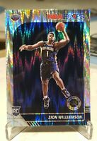 2019 Panini NBA Hoops Premium Prizm Flash Zion Williamson RC SSP Variation #258
