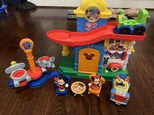 RARE Fisher Price Little People Magic of Disney Magical Day At Disney Set Donald