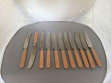 """Hermoso Conjunto De 11 Ivorina manejado cuchillos de mesa 8.25"""" (C P Walker. Sheffield)"""