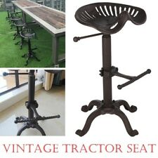 Adjustable Vintage Tractor Seat Bar Stool Rustic Cast Iron Industrial Chair UK