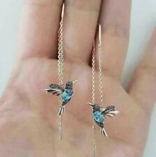 Gold Crystal hummingbird Bling Fashion Earring Boho Festival Party Boutique