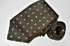Men's Kiton Napoli Broown  100% Silk Neck Tie made in Italy