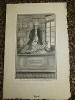 RARE GRAVURE XVIII CARICATURE REVOLUTION FRANCAISE Antoine d'ANDRÉ EPICERIE 1792