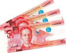 PHILIPPINES 50 Pesos 2016G Replacement Starnote NGC UNC Aquino Tetangco Sequence