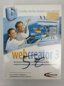 MINDSCAPE Webcreator 3 NEU! Original versiegelt Windows XP