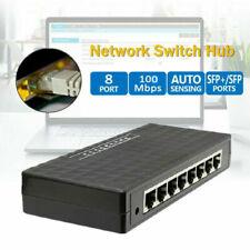 Smart 8 Port 100 Mbps Gigabit Ethernet Switch Lan Hub Adapter For Router & Modem