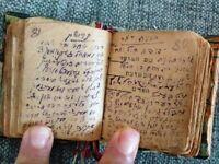 Hand Write Hebrew  Yiddish Miniature Talmud Notes and Miscellaneous Ephemera ###