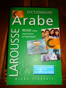 dictionnaire arabe-français Larousse 90000 mots NOUVEAU