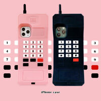 3D Cube Retro Classic Cellular Phone Silicone Cover for iPhone 12 11 Pro Max XS