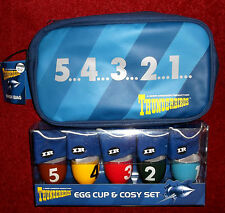 M & S Thunderbirds 5 Egg cup & Cosy set & Wash Bag  NEW