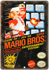 "Super Mario Brothers Nintendo Vintage Box Art 10""x7"" Reproduction Metal Sign"