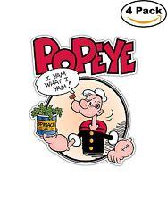 Popeye the Sailor Man Cartoon Decal Diecut Sticker 4 Stickers