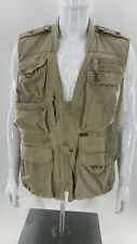 Woolrich Hunting/Fishing Vest Men's Size Large Khaki Vented