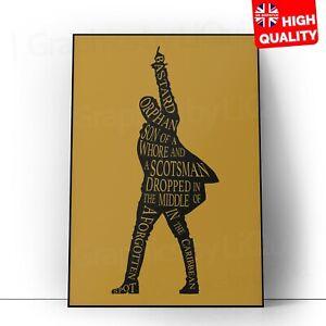 Hamilton Musical Broadway Show Wall Decor Art Poster   A5 A4 A3 A2 A1  