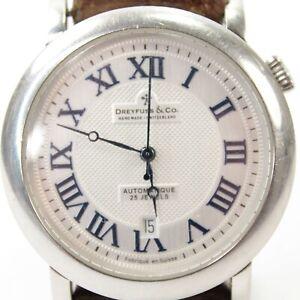 Mens Dreyfuss & Co Automatic wrist watch Series 1925 stainless steel mechanical