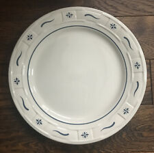 longaberger pottery blue woven traditions 10� Dinner Plate Usa Mint!